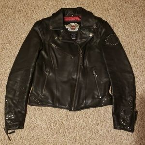 Harley Davidson Motor Clothes Studded Leather